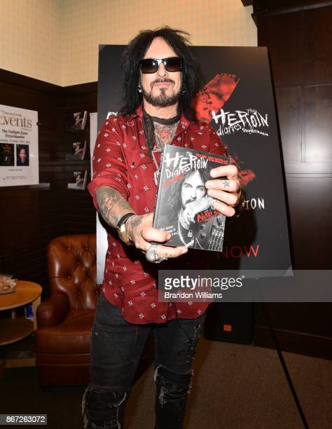 Musician Nikki Sixx attends the signing for his book 'The Heroin Diaries' at Barnes Noble at The Grove on October 27 2017 in Los Angeles California