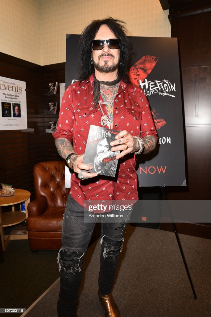 "Musician Nikki Sixx attends the signing for his book ""The"