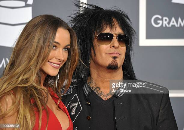 Musician Nikki Sixx of Motley Crue and guest arrive at The 53rd Annual GRAMMY Awards held at Staples Center on February 13 2011 in Los Angeles...
