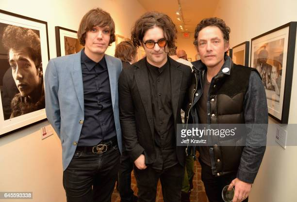 Musician Nikolai Fraiture of The Strokes musician Robert Levon Been of Black Rebel Motorcyle Club attend the 'I ME MINE' George Harrison book launch...