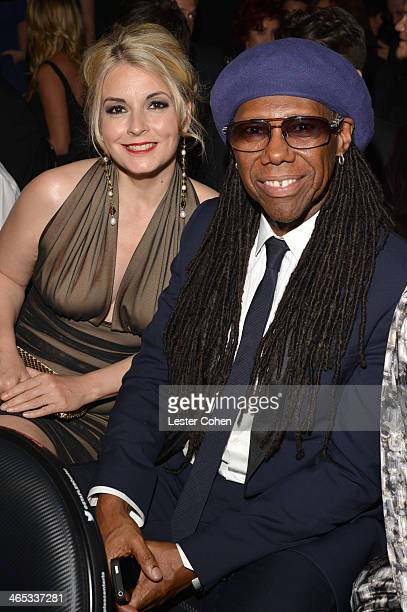 Musician Nile Rodgers and Nancy Hunt attend the 56th GRAMMY Awards at Staples Center on January 26 2014 in Los Angeles California