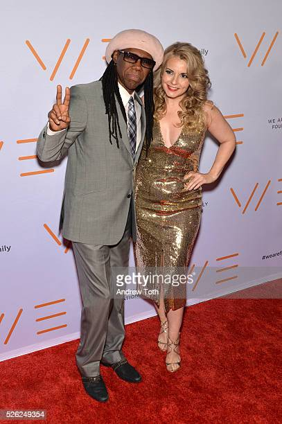 Musician Nile Rodgers and Nancy Hunt attend the We Are Family Foundation 2016 Celebration Gala on April 29 2016 in New York New York