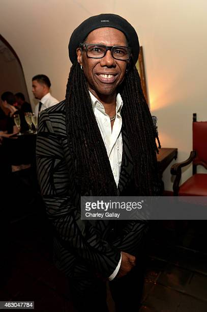 Musician Nile Rodgers attends the Warner Music Group annual Grammy celebration at Chateau Marmont on February 8 2015 in Los Angeles California