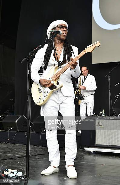 Musician Nile Rodgers of Chic performs onstage during 1035 KTU's KTUphoria 2016 presented by Aruba at Nikon at Jones Beach Theater on June 4 2016 in...