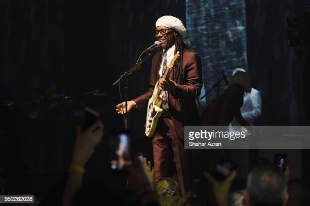 Musician Nile Rodgers performs during the 2018 We Are Family Foundation Celebration Gala at Hammerstein Ballroom on April 27 2018 in New York City