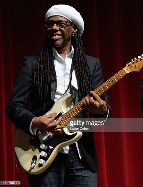 Musician Nile Rodgers performs onstage during A Conversation About the 56th GRAMMYS And Beatles Show at Leonard H Goldenson Theatre on May 30 2014 in...