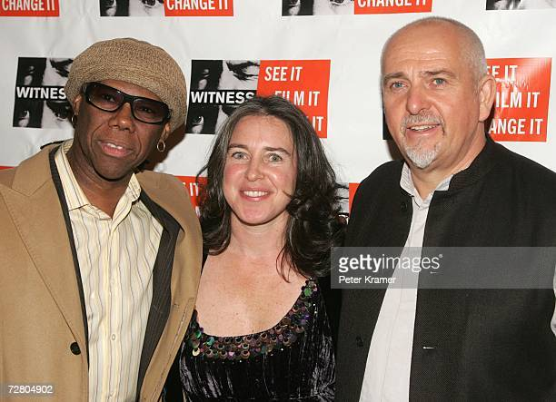 Musician Nile Rodgers Witness Exec Director Gillian Caldwell and Musician Peter Gabriel attend the second annual gala dinner and concert to benefit...