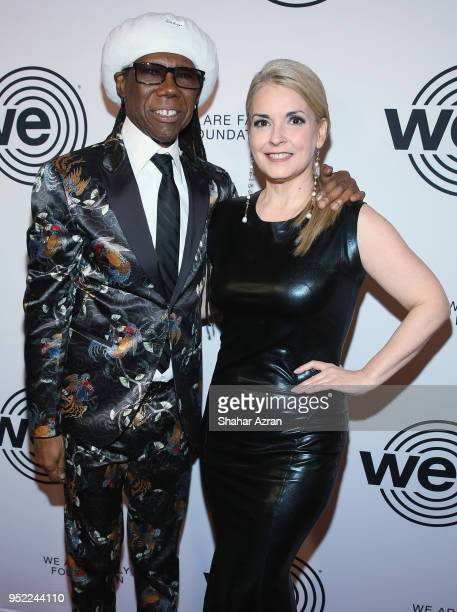 Musician Nile Rogers and We Are Family Foundation CoFounder and President Nancy Hunt arrive during the 2018 We Are Family Foundation Celebration Gala...
