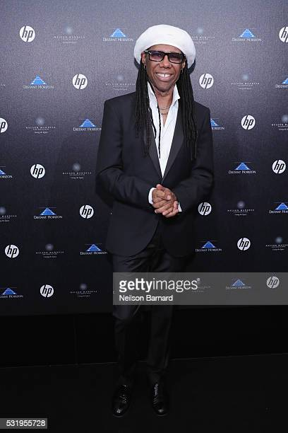 Musician Niles Rogers attends the Nelson Mandela dinner at the annual 69th Cannes Film Festival at Palais des Festivals on May 17 2016 in Cannes...