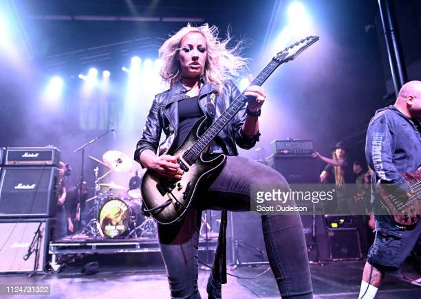 Musician Nita Strauss performs onstage during DIMEBASH 2019 at The Observatory on January 24, 2019 in Santa Ana, California.