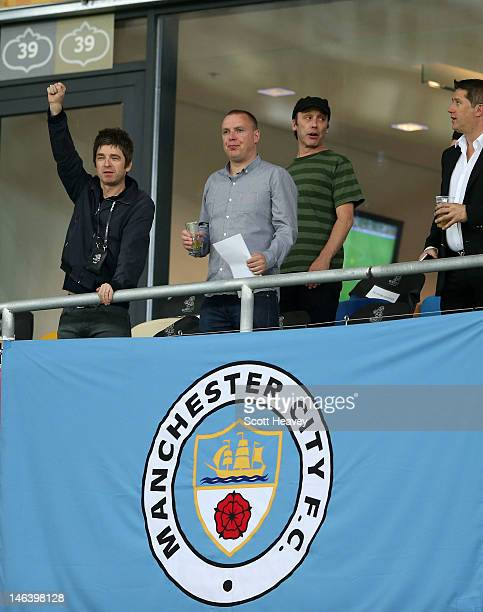Musician Noel Gallagher looks on ahead of the UEFA EURO 2012 group D match between Sweden and England at The Olympic Stadium on June 15 2012 in Kiev...
