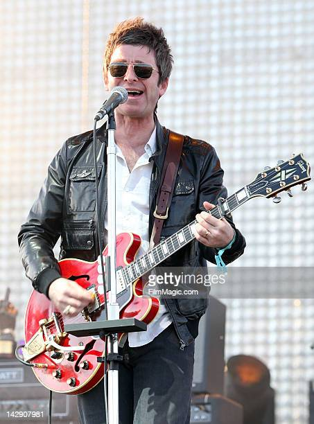 Musician Noel Gallagher of the band Noel Gallagher's High Flying Birds performs during Day 2 of the 2012 Coachella Valley Music & Arts Festival held...