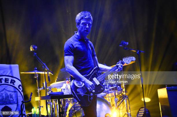 Musician Noel Gallagher performs with Noel Gallagher's High Flying Birds at Ryman Auditorium on February 27 2018 in Nashville Tennessee