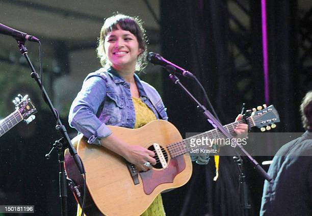 Musician Norah Jones performs at the Sutro Stage during day 2 of the 2012 Outside Lands Music and Arts Festival at Golden Gate Park on August 11 2012...