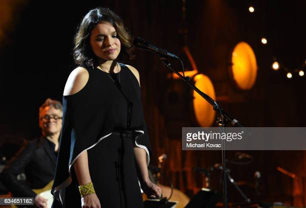 Musician Norah Jones performs onstage during MusiCares Person of the Year honoring Tom Petty at the Los Angeles Convention Center on February 10 2017...
