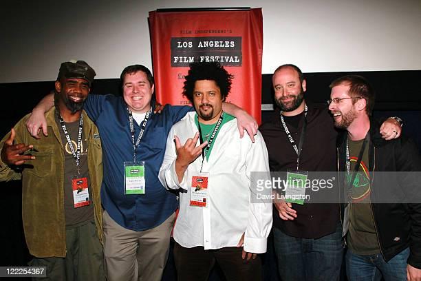 Musician Norwood Fisher of Fishbone Director/producer Chris Metzler musician Christopher Dowd of Fishbone Director/producer Lev Anderson and...