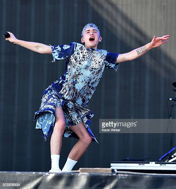 Musician Olly Alexander of Years Years performs onstage during day 1 of the 2016 Coachella Valley Music Arts Festival Weekend 2 at the Empire Polo...