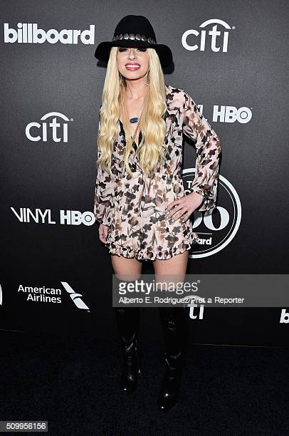 Musician Orianthi attends the 2016 Billboard Power 100 Celebration at Bouchon on February 12 2016 in Beverly Hills California