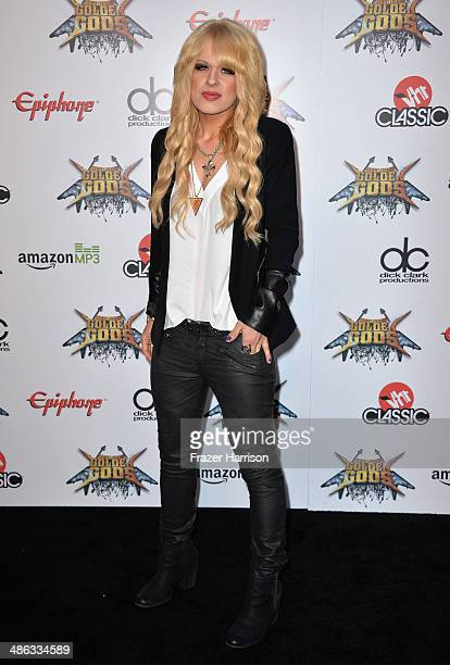 Musician Orianthi attends the 6th Annual Revolver Golden Gods Award Show at Club Nokia on April 23 2014 in Los Angeles California