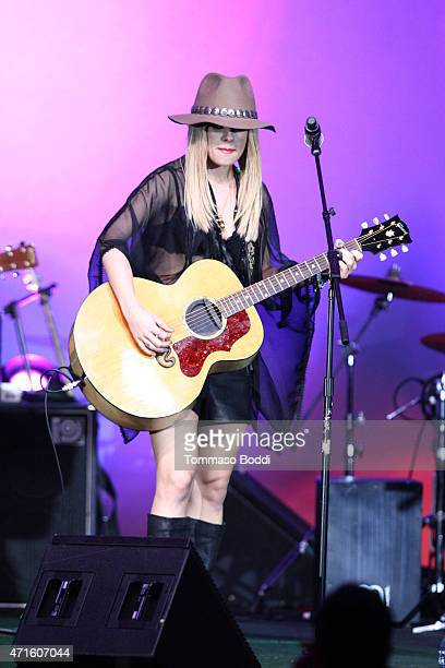 Musician Orianthi performs on stage during the 32nd annual ASCAP Pop Music Awards held at Lowes Hollywood Hotel on April 29 2015 in Hollywood...