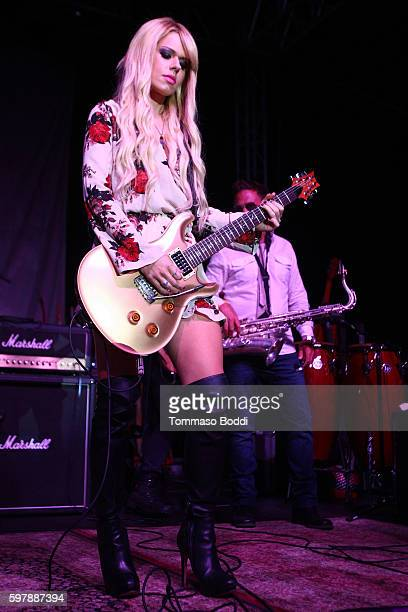 Musician Orianthi performs on stage during the 9th Annual Medlock Krieger Celebrity Invitational And All Star Concert Benefiting St Jude Children's...