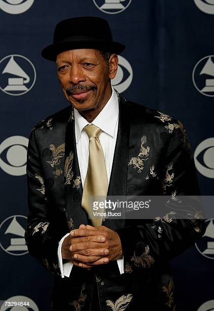 Musician Ornette Coleman poses in the press room at the 49th Annual Grammy Awards at the Staples Center on February 11 2007 in Los Angeles California