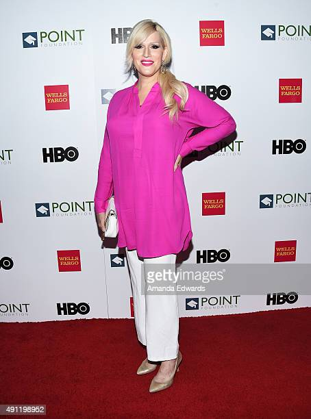 Musician Our Lady J arrives at the Point Foundation's Voices On Point Gala at the Hyatt Regency Century Plaza on October 3 2015 in Century City...