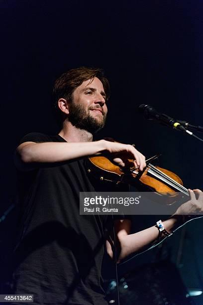 Musician Owen Pallett performs onstage at El Rey Theatre on September 13 2014 in Los Angeles California