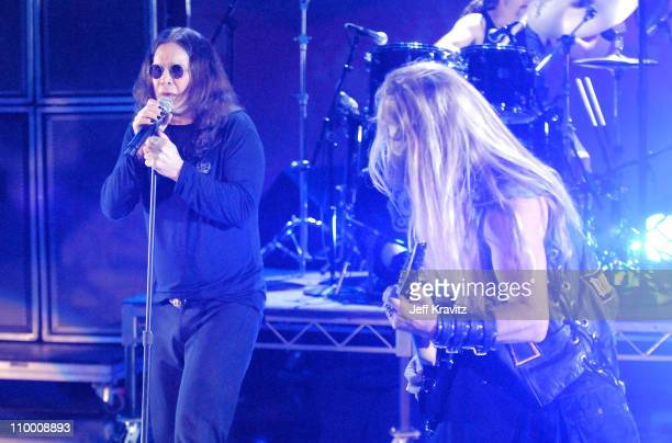 Musician Ozzy Osbourne and musician Zakk Wylde perform during the 2007 Spike TV Scream Awards at The Greek Theater on October 19 2007 in Los Angeles...