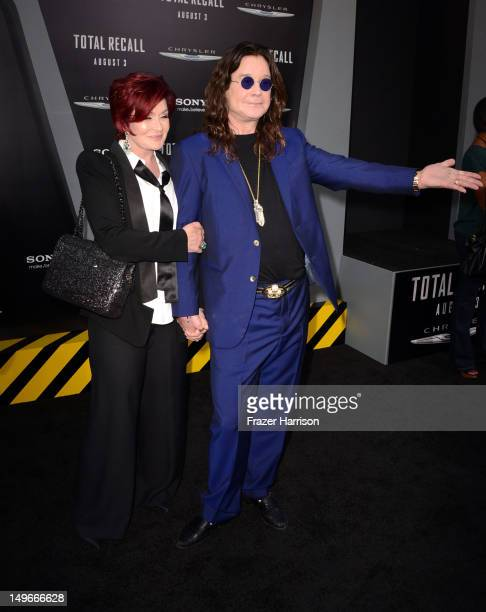 Musician Ozzy Osbourne and Sharon Osbourne arrive at the premiere of Columbia Pictures' 'Total Recall' held at Grauman's Chinese Theatre on August 1...