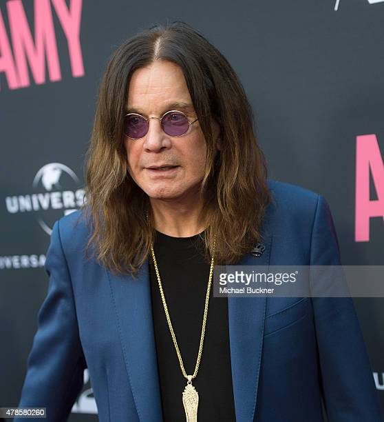 Musician Ozzy Osbourne arrive at the premiere of A24 Films 'Amy' at ArcLight Cinemas on June 25 2015 in Hollywood California