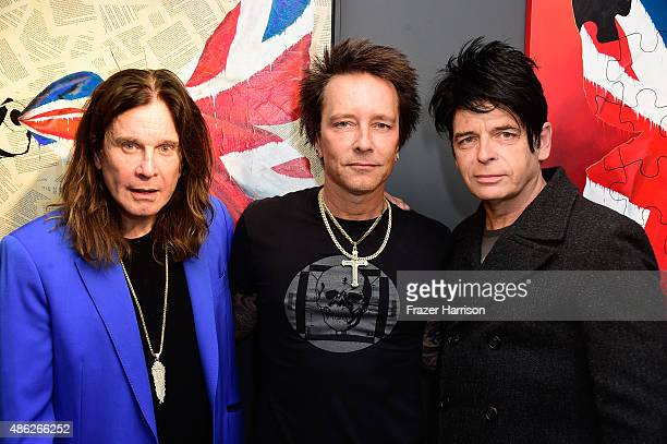 Musician Ozzy Osbourne Musician/artist Billy Morrison and musician Gary Numan attend an VIP Opening Reception For 'DisEase' An Evening Of Fine Art...