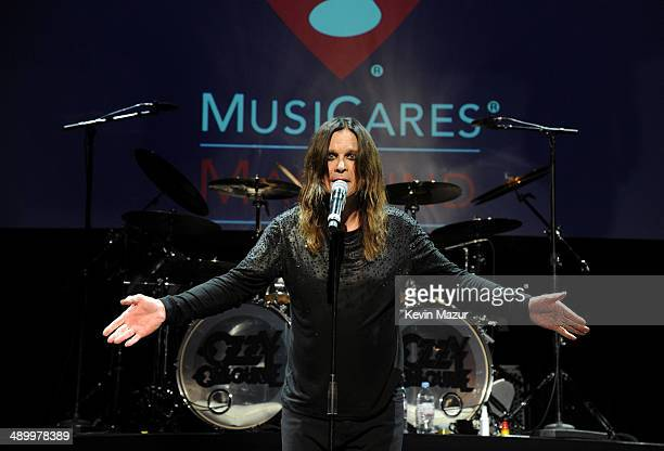 Musician Ozzy Osbourne performs onstage at the 10th annual MusiCares MAP Fund Benefit Concert to raise funds for MusiCares' addiction recovery...