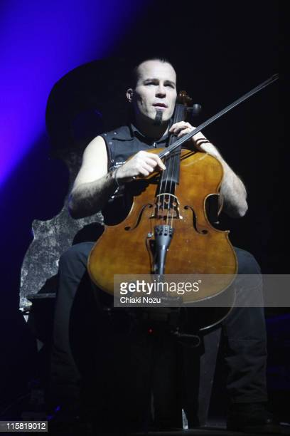 Musician Paavo Lotjonen of Apocalyptica performs in concert at Astoria on December 11 2007 in London England The Finnish cello metal group composed...