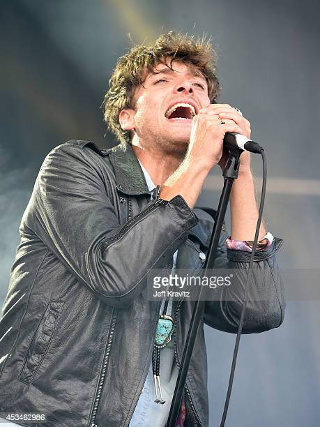 Musician Paolo Nutini performs at the Lands End Stage during day 3 of the 2014 Outside Lands Music and Arts Festival at Golden Gate Park on August 10...