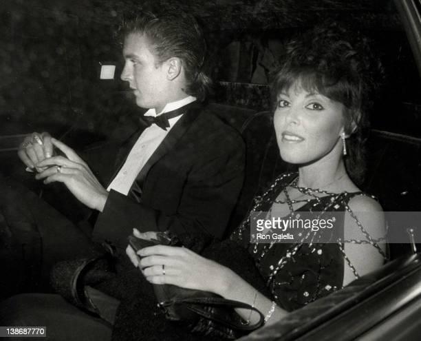 Musician Pat Benatar and husband Neil Giraldo leaving 24th Annual Grammy Awards on February 24 1982 at Shrine Auditorium in Los Angeles California