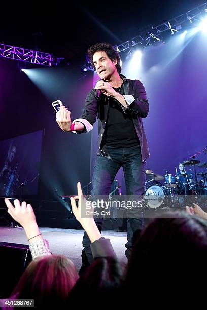 Musician Pat Monahan of the band Train performs on stage at Collaborating For A Cure 16th annual benefit dinner and auction at Park Avenue Armory on...