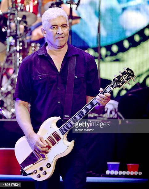 Musician Pat Smear of Foo Fighters performs at the Forum on September 22 2015 in Inglewood California