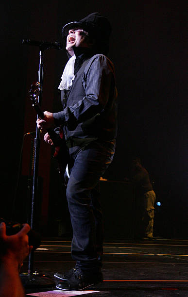 musician patrick stump fall out boy performs on halloween night at fillmore miami beach at the