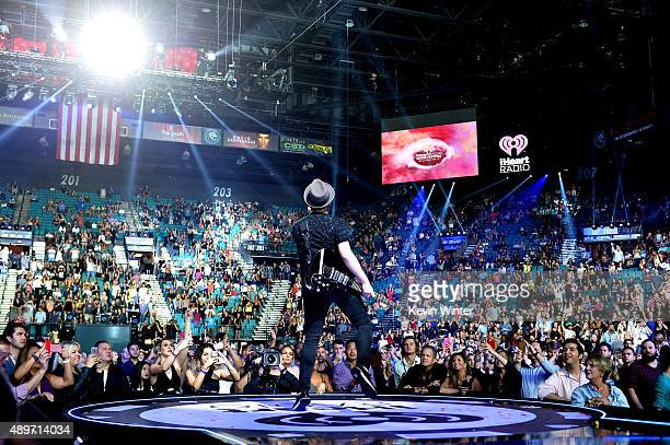 Musician Patrick Stump of Fall Out Boy performs at the 2015 iHeartRadio Music Festival at the MGM Grand Garden Arena on September 19 2015 in Las...