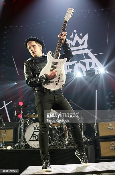 Musician Patrick Stump of Fall Out Boy performs onstage during 1035 KISS FM's Jingle Ball 2014 at Allstate Arena on December 18 2014 in Chicago...