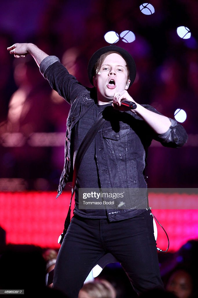 Musician Patrick Stump of Fall Out Boy performs onstage during the 4th Annual Cartoon Network Hall Of Game Awards held at the Barker Hangar on February 15, 2014 in Santa Monica, California.