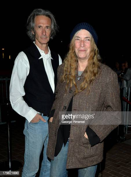 Musician Patti Smith and musician Lenny Kaye attend the 'Only Lovers Left Alive' premiere during the 2013 Toronto International Film Festival at...