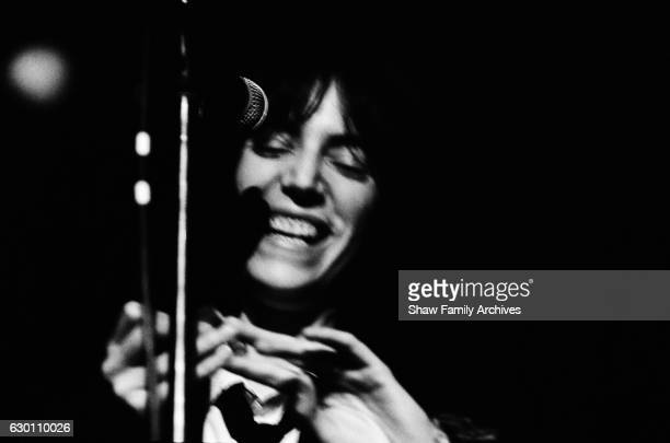 Musician Patti Smith in 1970 in New York New York