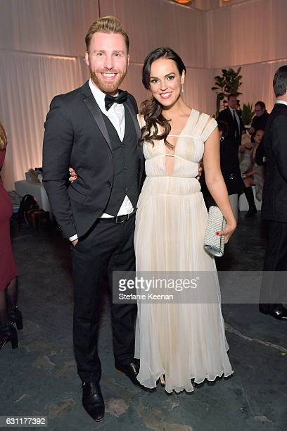 Musician Paul Freeman and actress Erin Cahill attend The Art of Elysium presents Stevie Wonder's HEAVEN Celebrating the 10th Anniversary at Red...