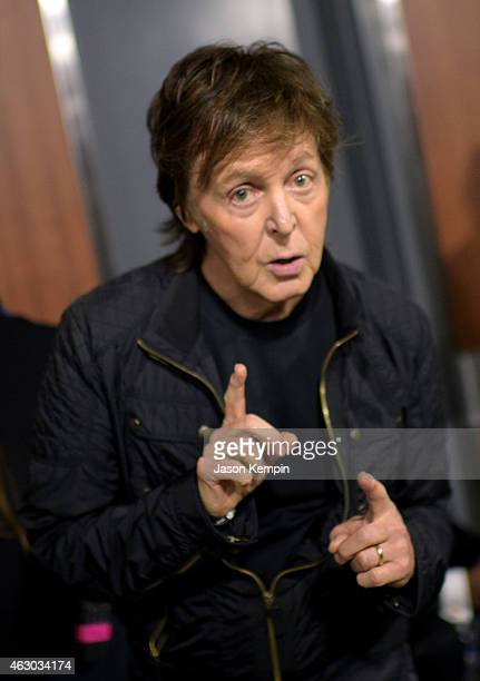 Musician Paul Mcartney attends The 57th Annual GRAMMY Awards at STAPLES Center on February 8 2015 in Los Angeles California