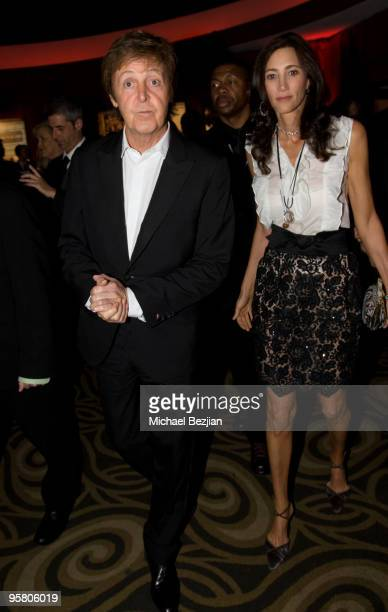 Musician Paul McCartney and Nancy Shevell attends the BFCA Critics' Choice Movie Awards at Hollywood Palladium on January 15 2010 in Hollywood...