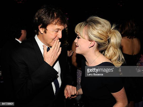 Musician Paul McCartney and singer Duffy attend the 2009 GRAMMY Salute To Industry Icons honoring Clive Davis at the Beverly Hilton Hotel on February...