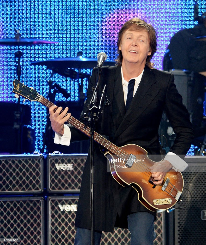 Musician Paul McCartney performs at the Lands End Stage during day 1 of the 2013 Outside Lands Music and Arts Festival at Golden Gate Park on August 9, 2013 in San Francisco, California.