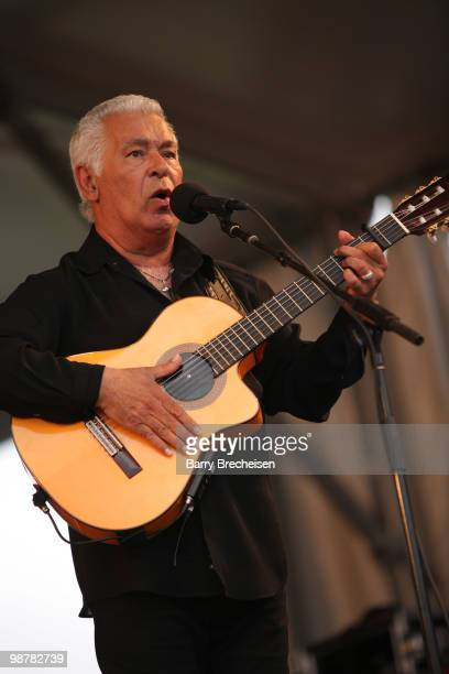 Musician Paul Reyes of the Gipsy Kings performs during day 5 of the 41st Annual New Orleans Jazz Heritage Festival at the Fair Grounds Race Course on...